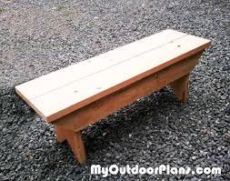 Free Simple Wood Bench Plans by Diy Garden Diy Small Bench Myoutdoorplans Free Woodworking