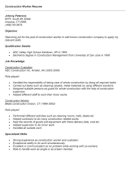 Sample Construction Worker Resume by Bricklayer Foreman Resume Corpedo Com
