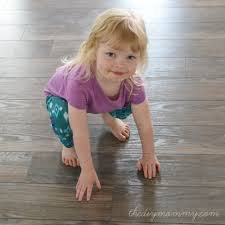 Install Laminate Flooring In Basement Installing Laminate Flooring By The Diy Mommy Allen Roth
