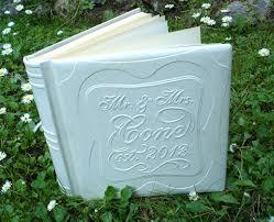Wedding Books White Leather Wedding Album Custom Wedding Album Wedding