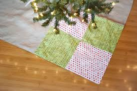 sew a simple patchwork tree skirt