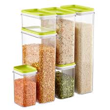 narrow stackable canisters with lime lids the container store narrow stackable canisters with lime lids