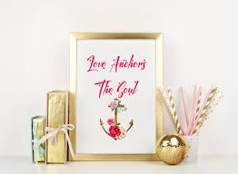 Love Anchors The Soul Print - ultimate valentines anniversary wedding gifts eva