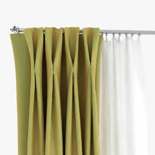 double pinch pleat curtains 3d cgtrader