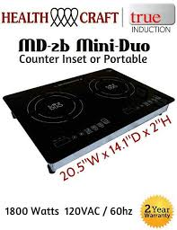 Ebay Cooktop Md 2b Mini Duo Portable Counter Inset Double Burner Induction