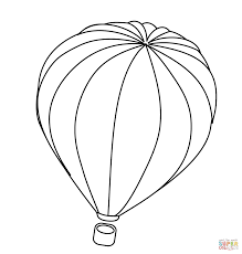 air balloon coloring page free printable coloring pages