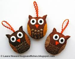 bugs and fishes by lupin 16 free felt ornament tutorials