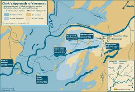clark map clark s approach to vincennes february 21 23 1779 civil war trust