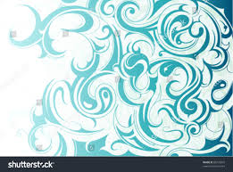 liquid water ornament stock vector 80732875
