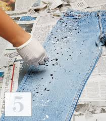 learn how to splatter paint your jeans in 6 easy steps whowhatwear