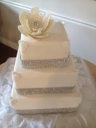 amanda u0027s bling wedding cake cakecentral com