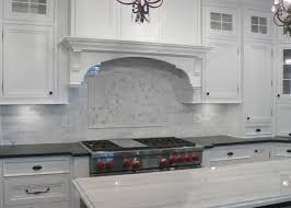 white carrera marble backsplash kitchen countertops tile