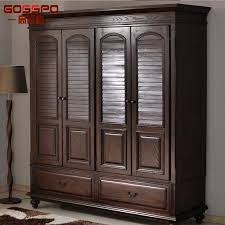 china bedroom furniture wood wardrobe with louvered door gsp17
