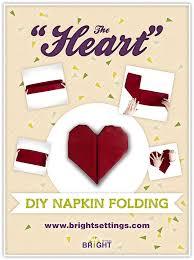 how to fold table napkins folding instructions for the heart napkin fold