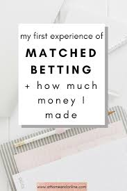 how much money i made the first time i tried matched betting at