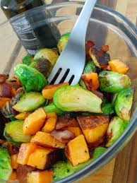 bacon brussels sprouts and butternut squash salad recipe food