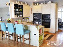 granite countertops kitchen cabinets painted with chalk paint
