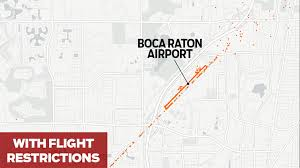 Map West Palm Beach Flight Paths Change Dramatically When Donald Trump Is In Palm
