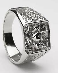 clatter ring mens silver claddagh ring ms clad33