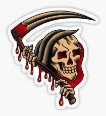 traditional tattoo grim reaper gifts u0026 merchandise redbubble