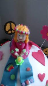 hippy peace birthday cake youtube
