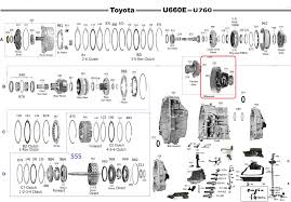 lexus es camry differential automatic transmission u660 2wd toyota camry 06 up