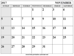 printable calendar page november 2017 november calendar 2017 monthly printable 2018 calendar pinterest