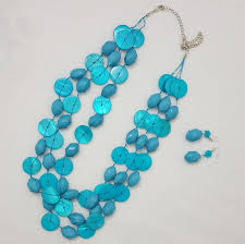 turquoise colored necklace images Turquoise colored necklace earrings poshmark jpg