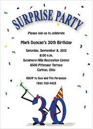 funny 30th birthday invitation