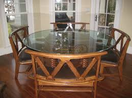 vintage glass top dining table dining room a stunning wide round glass top dining room tables