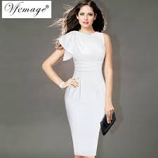 dress to party vfemage womens ruffle sleeve ruched party wear to work