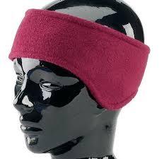 burgundy headband fleece ear headband