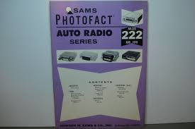ar 222 sams photofact auto radio service manual schematic book