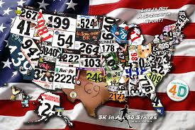 Fifty States Map Running Across America 50 States Of Leadership