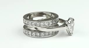 interlocking engagement ring wedding band an interlocking heart shaped diamond engagement ring wedding
