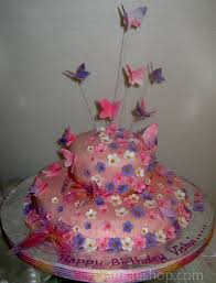 butterfly theme cake with flowers birthday cake online
