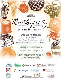 thanksgiving with all the trimmings events in hampton roads