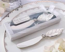 engagement favors wedding favors leaf shape butter knife wedding engagement favors