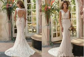 lace backless wedding dress vintage lace backless wedding dresses 2013 online mermaid v neck
