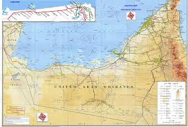 Physical Map Of Australia Detailed Road And Physical Map Of Uae United Arab Emirates