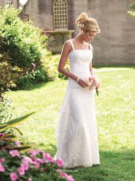 sleeveless lace and chiffon wedding dress with ruched shoulder