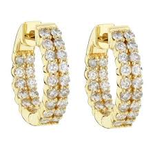 18k gold earrings gold earrings for women real certified 1 00 ct 18k gold