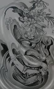 hannya mask samurai tattoo mask hannya oni tattoo pinteres