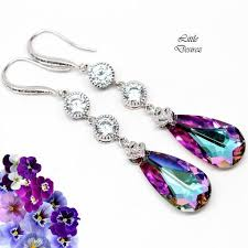 purple earrings purple amethyst mauve desirez jewelry