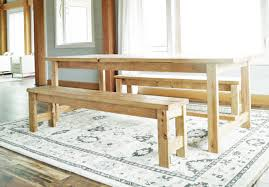 white table with bench ana white beginner farm table benches 2 tools 20 in lumber