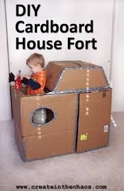 diy cardboard house create in the chaos