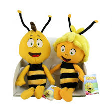 boxed 2 plushies maya bee willy big 40cm original maja