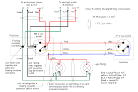 three switch light 2 way domestic lighting circuit pole two wiring