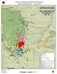 Map South Dakota Wildlife Diseases South Dakota Game Fish And Parks