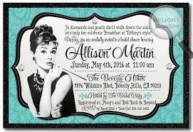 breakfast at s bridal shower hepburn breakfast at s bridal shower invitation di